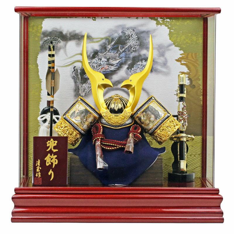 金彫金兜11号-ケース飾り