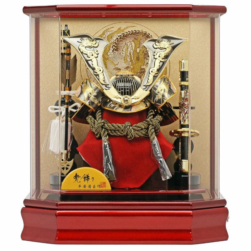 金銀彫金兜10号-ケース飾り