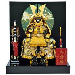 伝統的雰囲気がただよう、重厚感のある大鎧。五月人形 鎧 鎧飾り コンパクトな鎧飾り 甲冑飾り ...