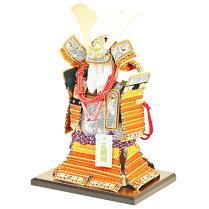 五月人形コンパクトな鎧飾り奉納鎧鎧鎧飾り甲冑飾り人形工房天祥限定オリジナル「コンパクトな鎧飾り鎧5号奉納鎧天勢(正絹曙糸縅)」