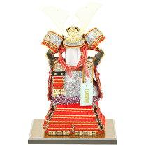 五月人形コンパクトな鎧飾り奉納鎧鎧鎧飾り甲冑飾り人形工房天祥限定オリジナル「コンパクトな鎧飾り鎧5号奉納鎧天勢(正絹赤糸縅)」