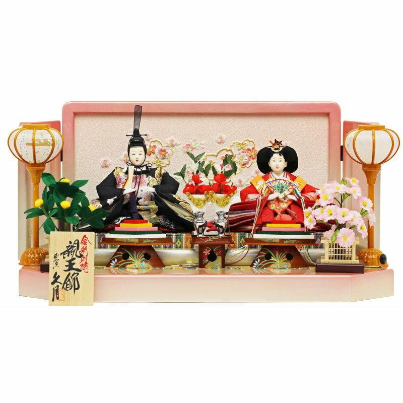 人形の久月-十二単雛-親王飾り 金彩刺繍