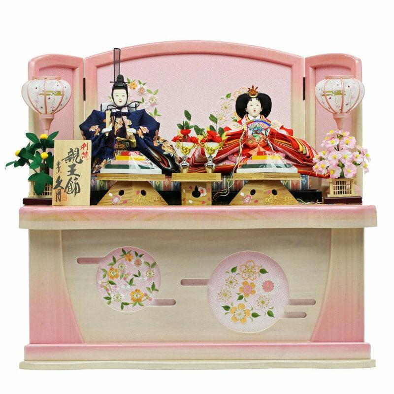 久月×人形工房天祥 コラボ限定オリジナルひな人形 「久月 親王飾り コンパクトな収納飾り 御雛(収納タイプ)」 ひな祭り