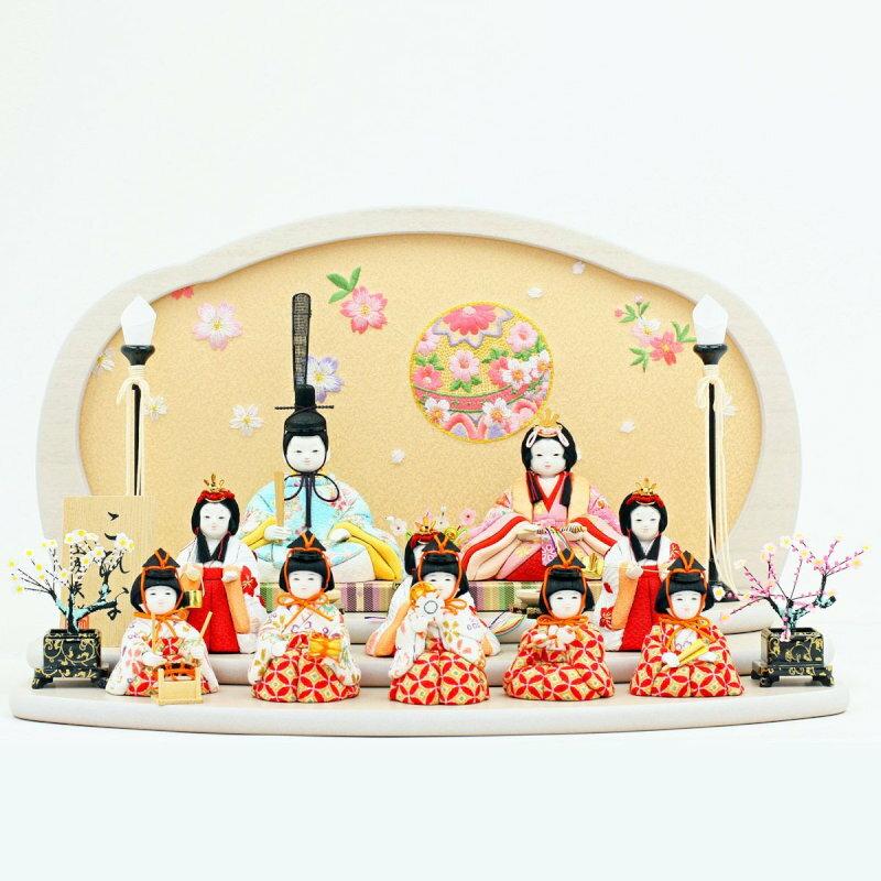 こひな マリ桜-十人飾り-人形工房天祥オリジナル