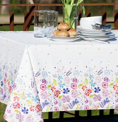 スペイン製テーブルクロス スプリング柄 150×200cm