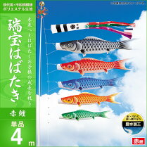 瑞宝はばたき-赤鯉4m・単品