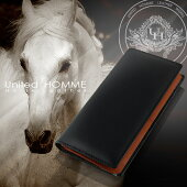 財布メンズ長財布コードバンUnitedHOMME高級馬革×高級牛革使用長財布【送料無料】