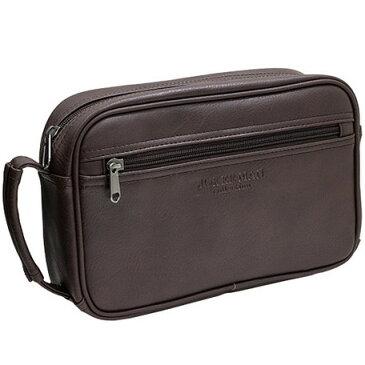 セカンドバッグ メンズ 合成皮革 鞄 シボ ブランド おしゃれ 茶 ブラウン MKC-01 JOKERMAN 正規品 安心保障 送料無料