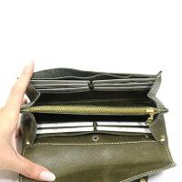 ブランド財布長財布レディース財布本革おしゃれfesカウレザー長財布ショルダーバッグ小さめ可愛いかわいい安心保障正規品グリーン緑