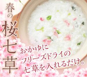 【送料無料】【ケース買い】フリーズドライ七草と塩漬けの桜のセット20袋入り