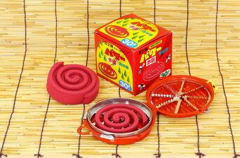 【蚊取り線香ではありません】富士錦パワー森林香(赤色)30巻入り【防虫業務用激安セール】アウトドア