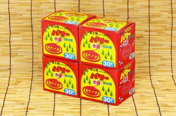 【蚊取り線香ではありません】富士錦パワー森林香(赤色)30巻入りひと夏4箱セット【送料無料送料込み】【防虫業務用激安セール】アウトドア