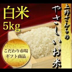 【お米ギフト】【有機JAS認証】【自然栽培】新潟県産ササニシキ「上野さんちのやさしいお米」白米 5kg/-