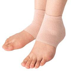面倒なお手入れ不要、履くだけケア保湿 かかと つるつる 角質 乾燥 シルク混かかとつやつや 2足...