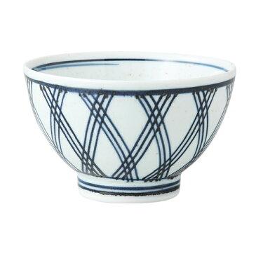 食器 器 碗 茶碗 セット 3客組 おしゃれ 可愛い 波佐見焼 磁器 日本製 あじろ 雑碗 (青) 3客組 13908