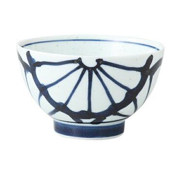 食器 器 碗 茶碗 セット 3客組 おしゃれ 可愛い 波佐見焼 磁器 日本製 菊紋 雑碗 (青) 3客組 14040