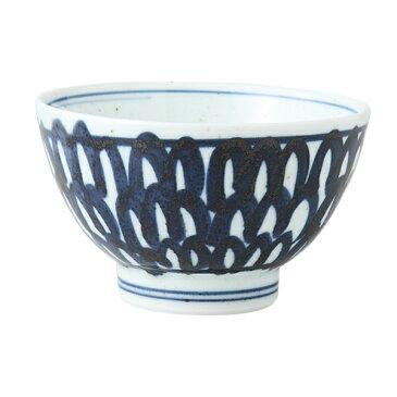 食器 器 碗 茶碗 セット 3客組 おしゃれ 可愛い くらわんか 波佐見焼 磁器 日本製 石垣紋 くらわんか碗 (青) 3客組 14043