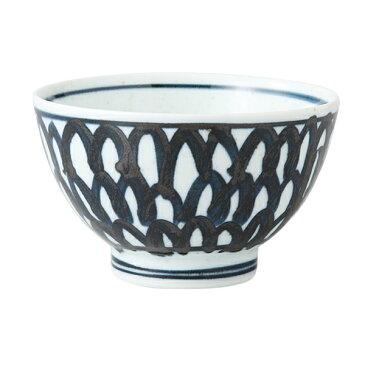 食器 器 碗 茶碗 セット 3客組 おしゃれ 可愛い 波佐見焼 磁器 日本製 石垣紋 雑碗 (青) 3客組 14044