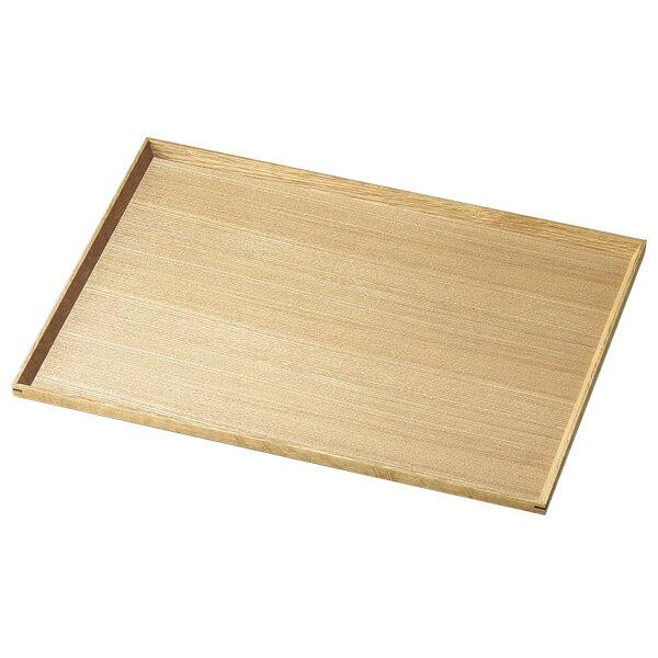 お盆 トレー 四角 長方形 おもてなし 来客 お祝い 日本製 来客 越前漆器 シンプル 上品 器 漆器 木製 おすすめ 白木塗タモ140長角盆 1010501