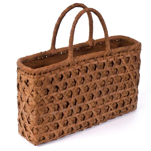 バッグ かごバック 浴衣 山葡萄かごバッグ 葡萄 つる 手作り 職人 可愛い シンプル 丈夫 プレゼント 網代編 沢皮 内布付き wild grapevine bag 91682:こだわり雑貨本舗