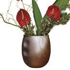 花入 花瓶 花器 花 インテリア 季節 癒し 陶器 日本製鉄赤波紋 G5-4104