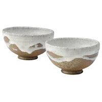 陶器 和風 茶碗 夫婦茶碗 セット 高級 和 モダン かわいい おしゃれ シンプル 信楽焼 日本製淡雪飯碗大・小セット G5-2907、G5-2908