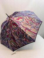 雨傘・長傘甲州産ほぐし織り墨流し柄ジャンプ長雨傘