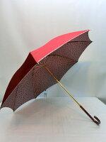 甲州産先染め裏小花マイナスイオン日本製手開き雨傘