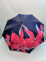 通年新作)雨傘・婦人長傘カトレア4駒つなぎ柄日本製軽量ジャンプ雨傘