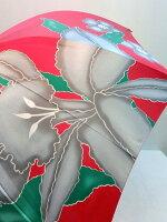 通年新作)雨傘・長傘−婦人カトレア4駒つなぎ柄日本製軽量ジャンプ雨傘