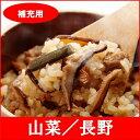 釜を持っている方に♪釜飯の具と米のセット【補充用】全国名選陶器本釜めし(山菜/長野) 1食袋