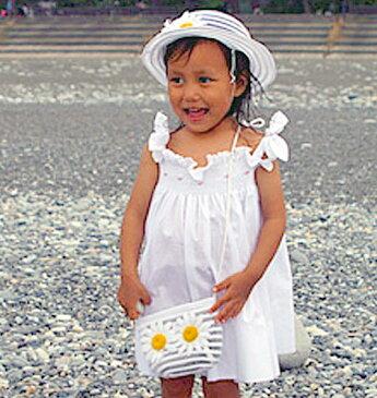 ドレスベビードレススモッキングドレス刺しゅうスモッキングドレス帽子&バッグ サンドレス90ホワイトチャーミングギフトセット選んで!!無料ギフトラッピング