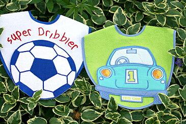エプロンスタイよだれかけビブおしゃれなビブサッカーボール&カーおしゃれなビブギフトセット2枚組み選んで!!無料ギフトラッピング