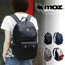 moz 17L リュック ZZCI-03A マザーズリュック マザーズバッグ リュックサック デイパック ディパック 鞄 バッグ 背面ファスナー付き ブラック トリコロール 人気 ブランド モズ おしゃれ 通勤通学 普段使い A4 ママ レディース 女性