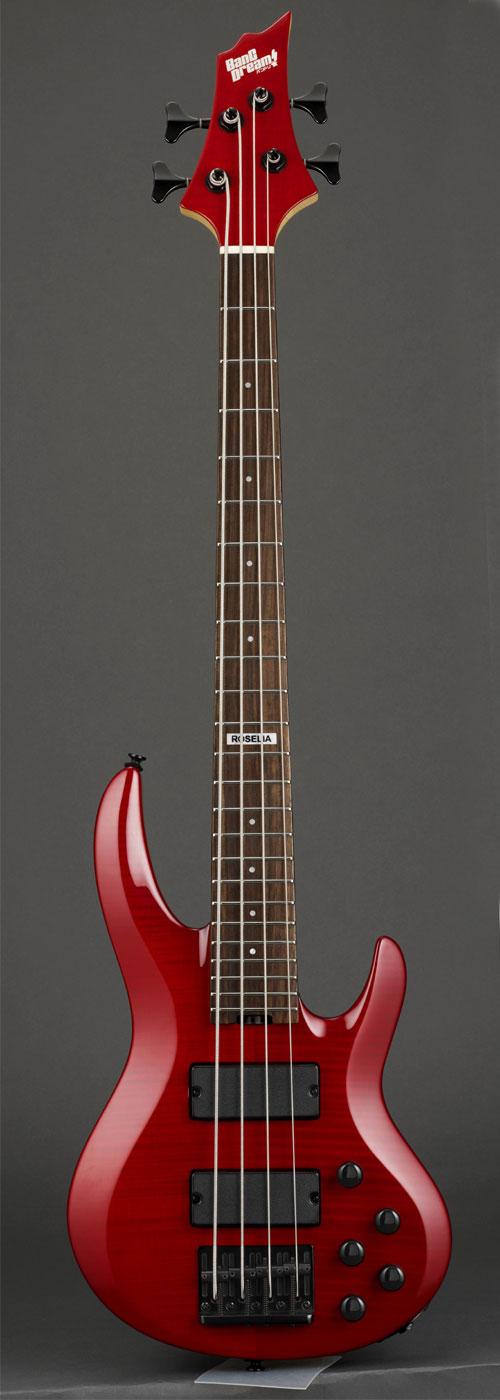 ベース, エレキベース BanG Dream! ESPCollaboration Roselia Model BanG Dream! BTL LISA MINI (See Thru Red)