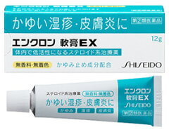 かゆい湿疹・皮膚炎の治療薬。ジクジクした患部にも塗りやすい軟膏タイプエンクロン 軟膏EX 12g