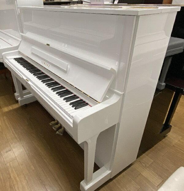 【ピアノデリバリー(レンタル)】ヤマハ U1H(ホワイト特注)(中古再調整品/新品同様)