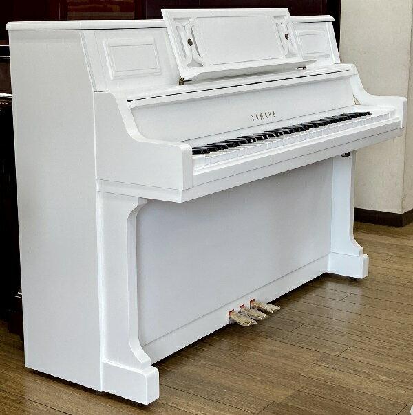 【おこのみレンタルピアノ】ヤマハ L101<ホワイト艶消し特注>(中古再調整品/新品同様)