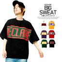 ビッグTシャツ メンズ スウェット 五分袖 ロゴ プリント ドロップショルダー オーバーサイズ カットソー ビッグ Tシャツ 半袖Tシャツ ロング ワイド ビッグシルエット 白 黒 赤 スケーター BIG ダンス 5分袖 半袖 7分袖 シャツ トップス ストリート系