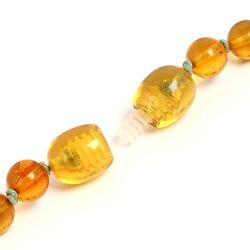 琥珀ネックレスマルチカラー淡水パール4角樽48cmこはくコハクamberjewelleryjewelryaccessories