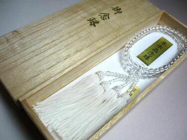 女性用のお数珠水晶丸型二重