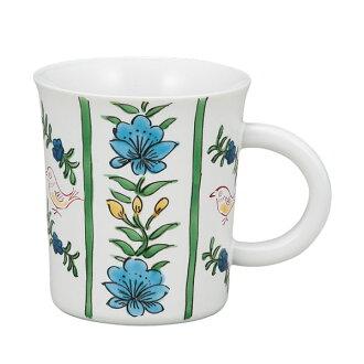 Kutani porcelain mugs birds statement