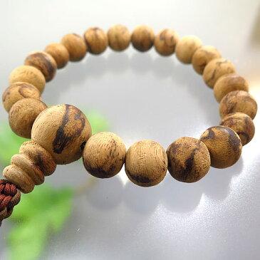 【楽天セール10%OFF&ポイント10倍!】男性用お数珠 インドネシア沈香 18玉 共仕立て 紐房
