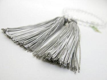 女性用のお数珠ヒマラヤムーンクォーツ8mm玉水晶仕立て