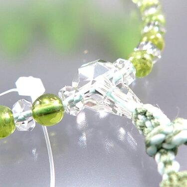 女性用のお数珠水晶切子ペリドットコンビ仕立て6