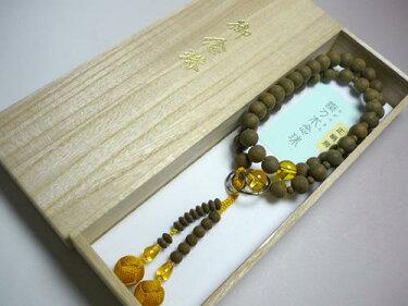 男性用のお数珠鉄刀木黄水晶仕立浄土宗