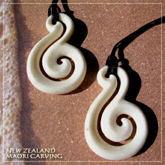 雙吊墜項鍊幸福魅力紐西蘭毛利鹿角毛利人男子的配件角配件鹿茸