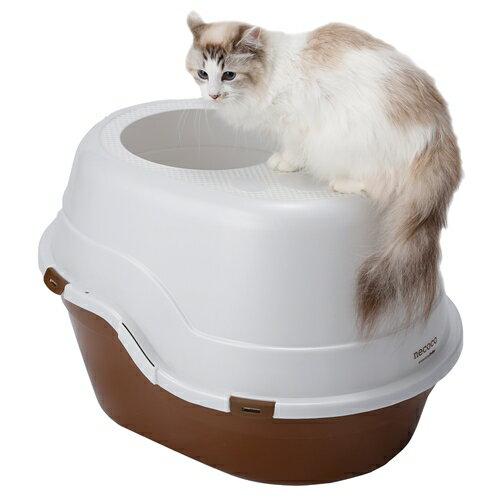 ペティオ NECOCO 上から入る猫トイレ ブラウン