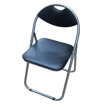 パイプチェアー ブラック/シルバー KKH18−8001 パイプイス 折りたたみパイプ椅子 ミーティングチェア 会議イス 会議椅子 パイプチェア パイプ椅子 コーナン【ラッキーシール対応】