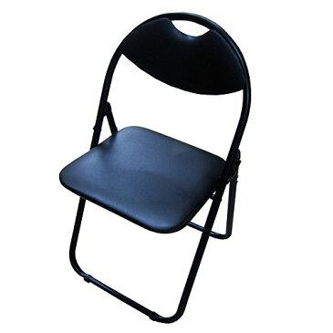 パイプチェアー ブラック/ブラック KKH18−8018 パイプイス 折りたたみパイプ椅子 ミーティングチェア 会議イス 会議椅子 パイプチェア パイプ椅子 コーナン【ラッキーシール対応】